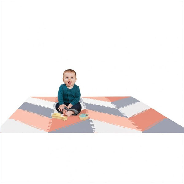 Skip Hop Playspot Geo Foam Floor Tiles in Grey and Peach