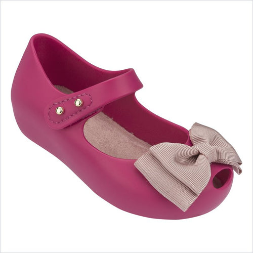 Mini Melissa Ultragirl Sweet Flat in Pink Matt and Light Pink