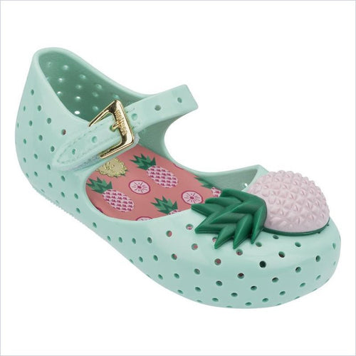 Mini Melissa Furadinha Vii Flats in Light Green