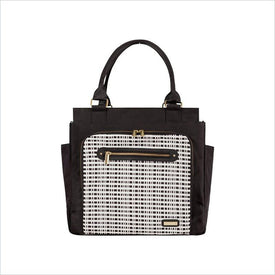 JJ Cole Freeman Diaper Bag in Black and Cream