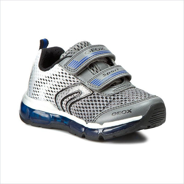 Geox J Android Trainers in Grey and White