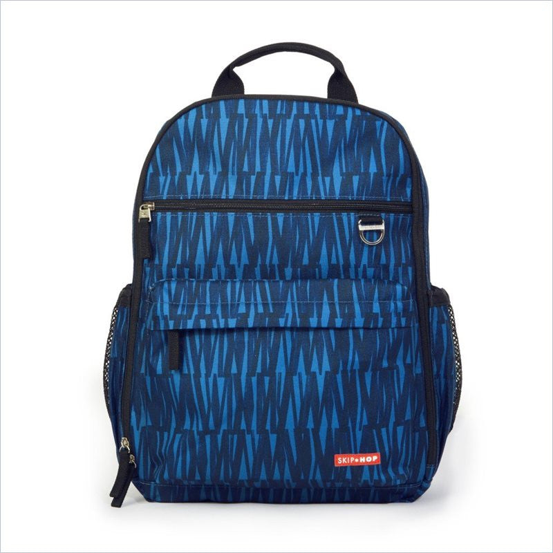 Skip Hop Duo Diaper Bag Backpack in Blue Graffiti