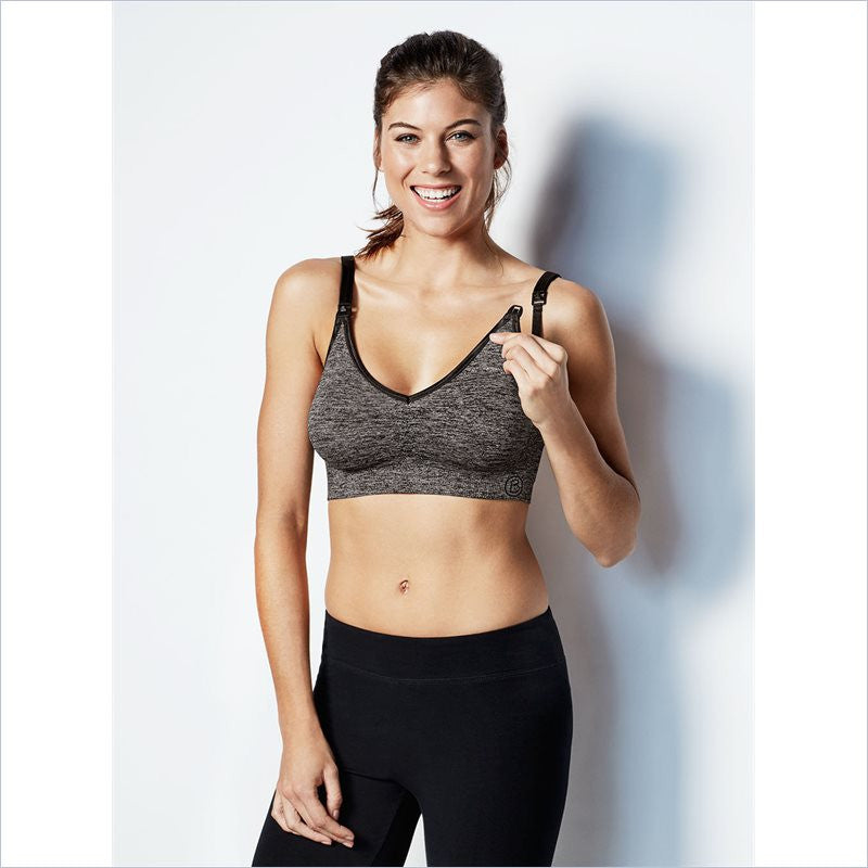 Bravado Body Silk Seamless Yoga Nursing Bra in Charcoal Heather