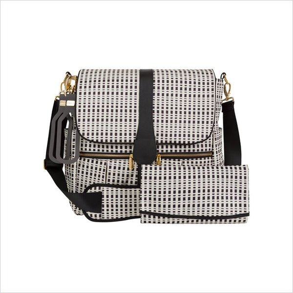 JJ Cole Backpack Diaper Bag in Black and Cream