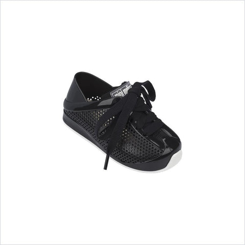 Mini Melissa Love System Shoe in Black/White