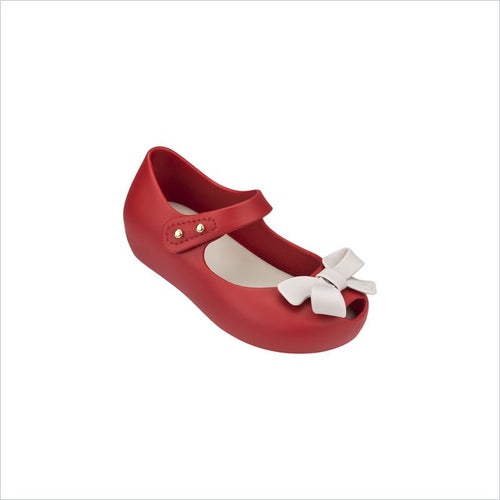 Mini Melissa Ultragirl Bow Ii in Red/Beige