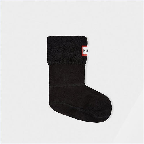 Hunter Kids Original Tall 6 Stich Cable Boot Socks in Black