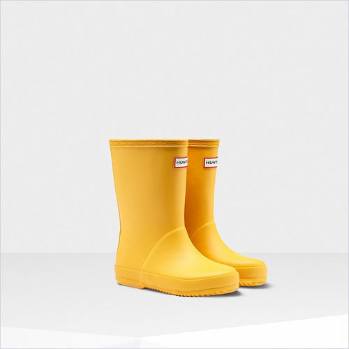 Hunter Kids First Classic Rain Boots in Sunlight