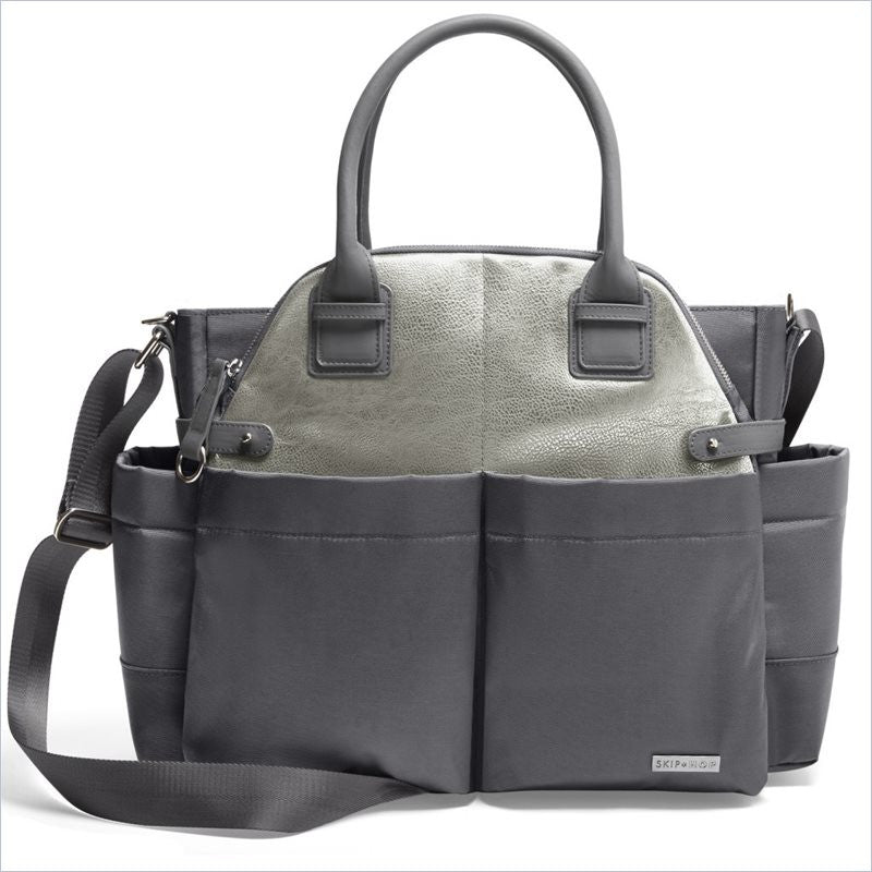 Skip Hop Chelsea Downtown Chic Satchel in Charcoal Shimmer