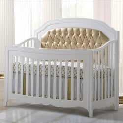 Natart Allegra Gold 5-in-1 Convertible Crib Without Gold Panel and Without rails