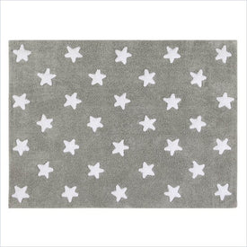 Lorena Canals Washable Rugs Grey Stars White
