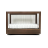 Spot On Square Roh Crib in White Walnut with 2 Side Acrylic
