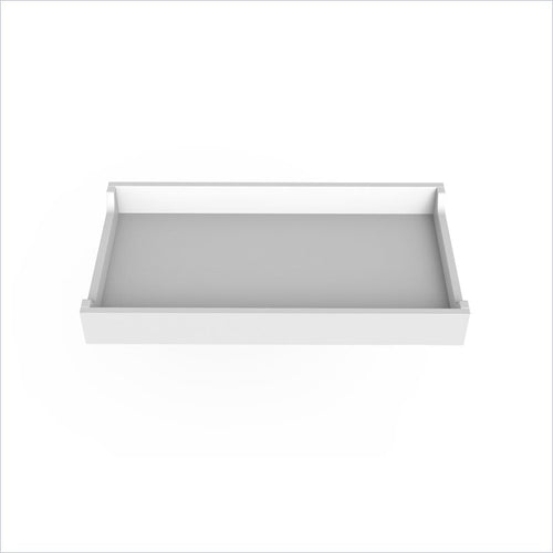 "Spot On Square 34"" Wide Changing Tray in White"