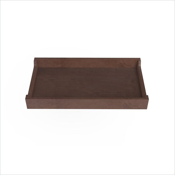"Spot On Square 34"" Wide Changing Tray in Walnut Stain"