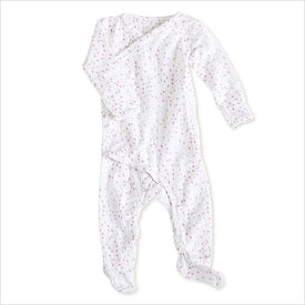 Aden + Anais Long Sleeve Kimono One-Piece in Lovely Mini Hearts