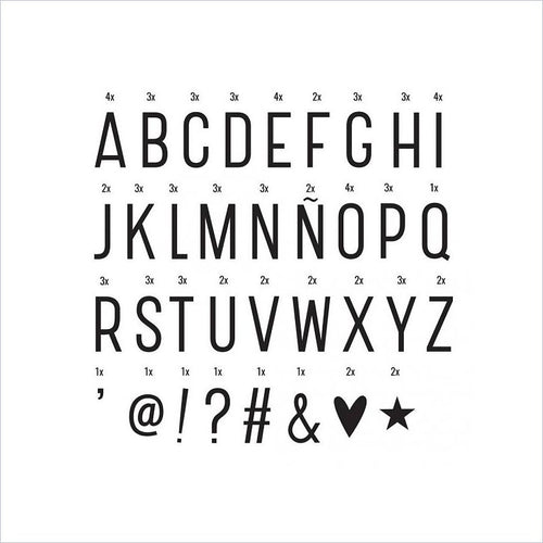 Lightbox Letter Set: Basic