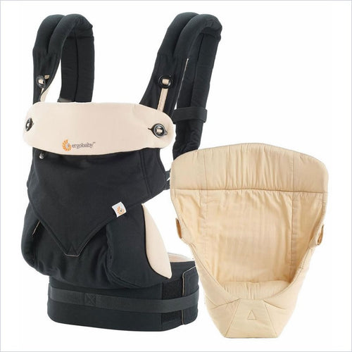 Ergo Baby 4 Position 360 Carrier Bundle of Joy in Black/Camel