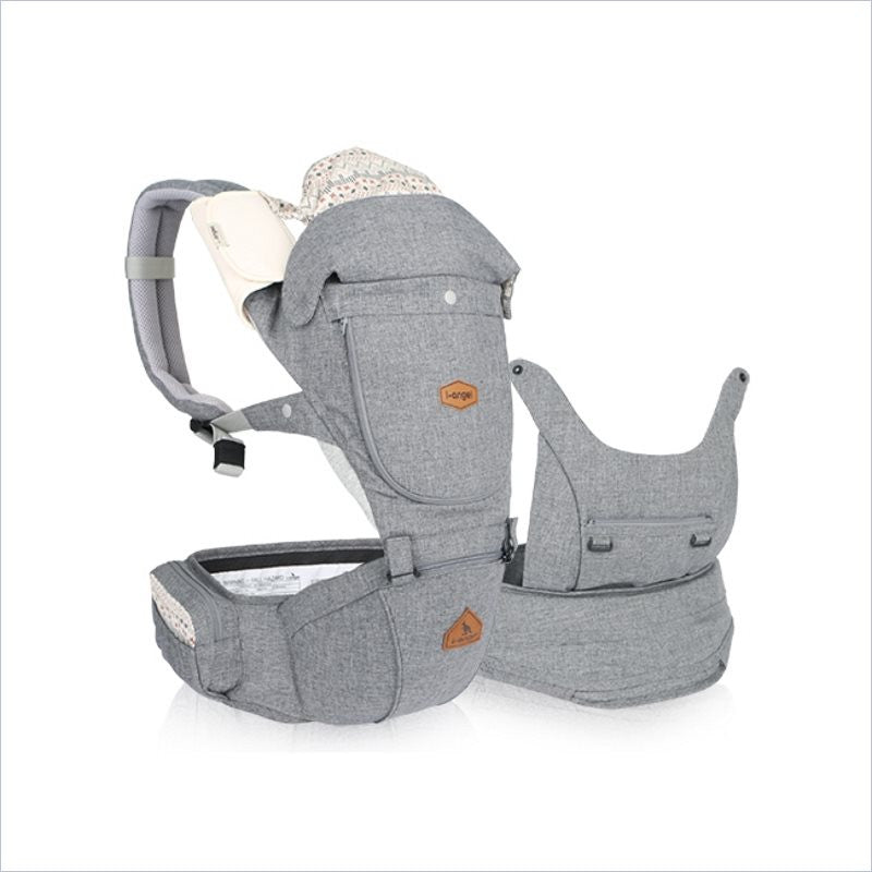 I-Angel Miracle Hipseat Carrier in Melange Grey