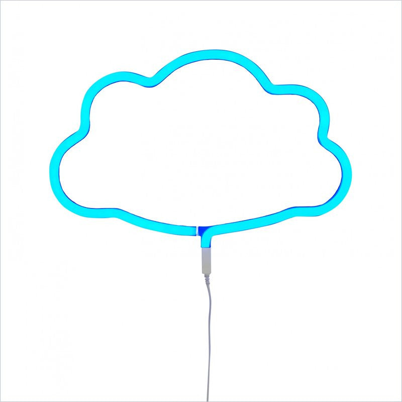 A Little Lovely Company Neon Light: Cloud - Blue