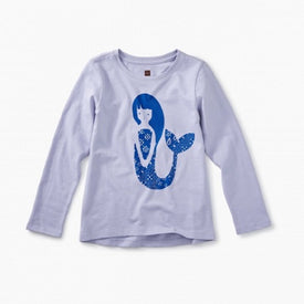 Tea Collection Mermaid Graphic Tee for girls in Lilac Mist
