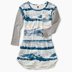 Tea Collection Layered Sleeve Pocket Dress for Girls