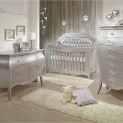 Natart Alexa 5-in-1 Convertible Crib in Silver
