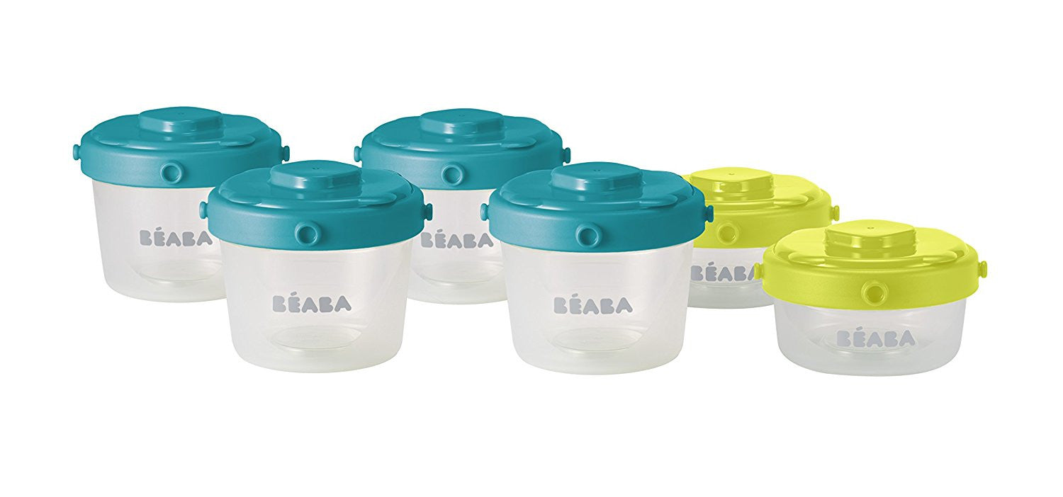 Beaba Clip Containers 6 Piece Set in Peacock