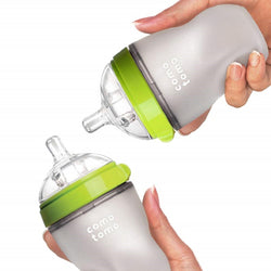 Comotomo 8oz Natural Feel Baby Bottle in Green (Set of 2)