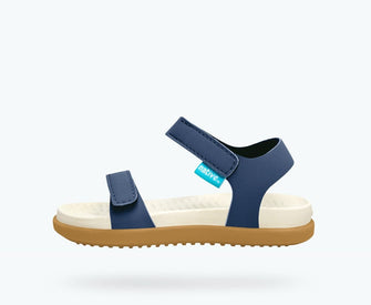 Native Shoes Charley Child in REGATTA BLUE / BONE WHITE / TOFFEE BROWN