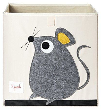3 Sprouts  Storage Box in Mouse Gray