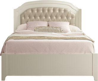 "Natart Allegra 54"" Double Bed in French White"