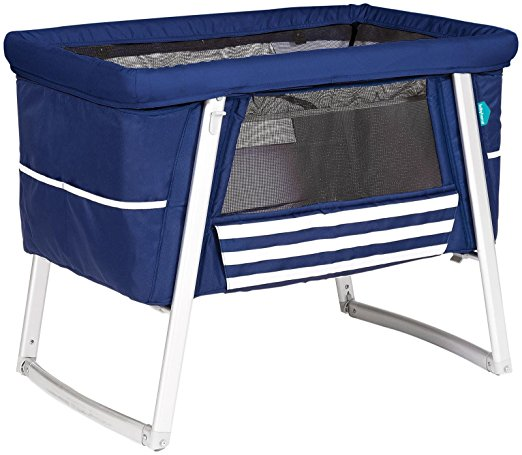 Babyhome Dream Air Baby Cot in Navy