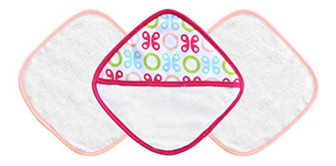 JJ Cole Washcloth and Bath Mitt Set in Pink Butterfly