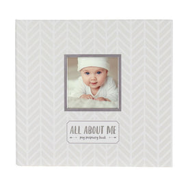 Pearhead Baby Memory Book & Sticker Set White/Grey