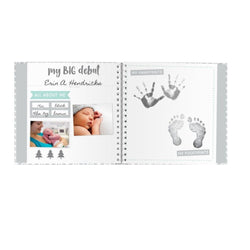 PearheadBaby Memory Book & Sticker Set - White/Grey