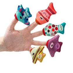 Lilliputiens Fish Puppets - bath fun