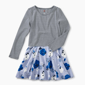 Tea Collection Skirted Dress for girls in Lilac Mist Pop