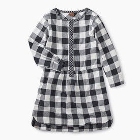 Tea Collection Checkered Plaid Shirtdress in Checkered Plaid