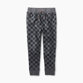 Tea Collection Printed Joggers in Soho Squares
