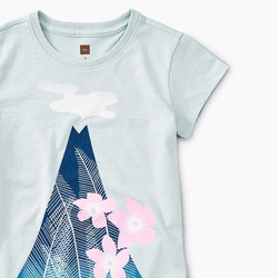 Tea Collection Polynesian Peak Graphic Tee in  STERLING BLUE