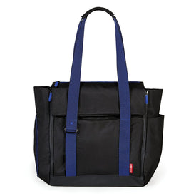 Skip Hop Fit All-Access Diaper Tote in Black and Cobalt