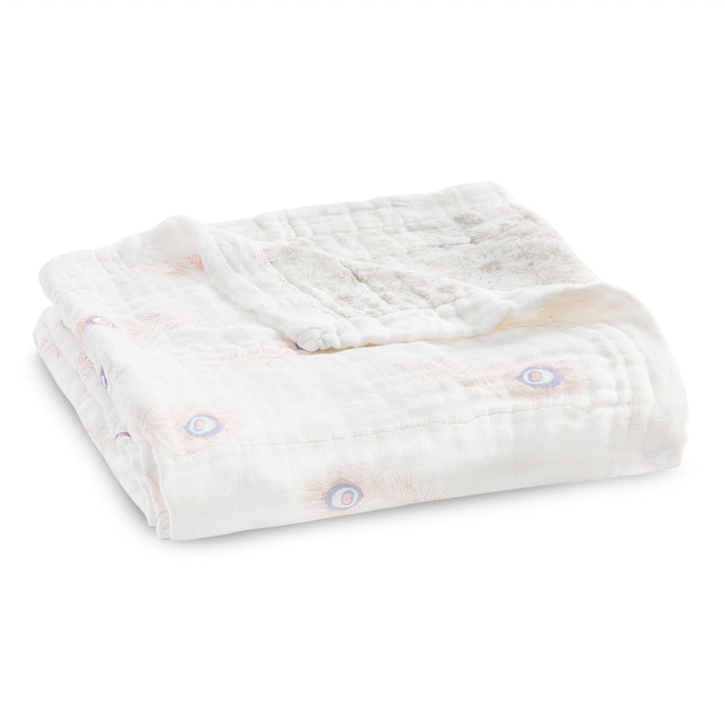 Aden + Anais silky soft dream blanket featherlight - dainty plume