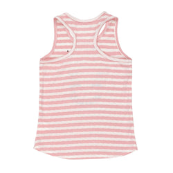 Minimome TANK TOP PINK & WHITE STRIPED WITH UNICORN PRINT AND SEQUINS For GIRL