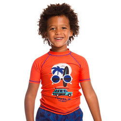 Minimome ORANGE SHORT SLEEVE RASHGUARD for BOY