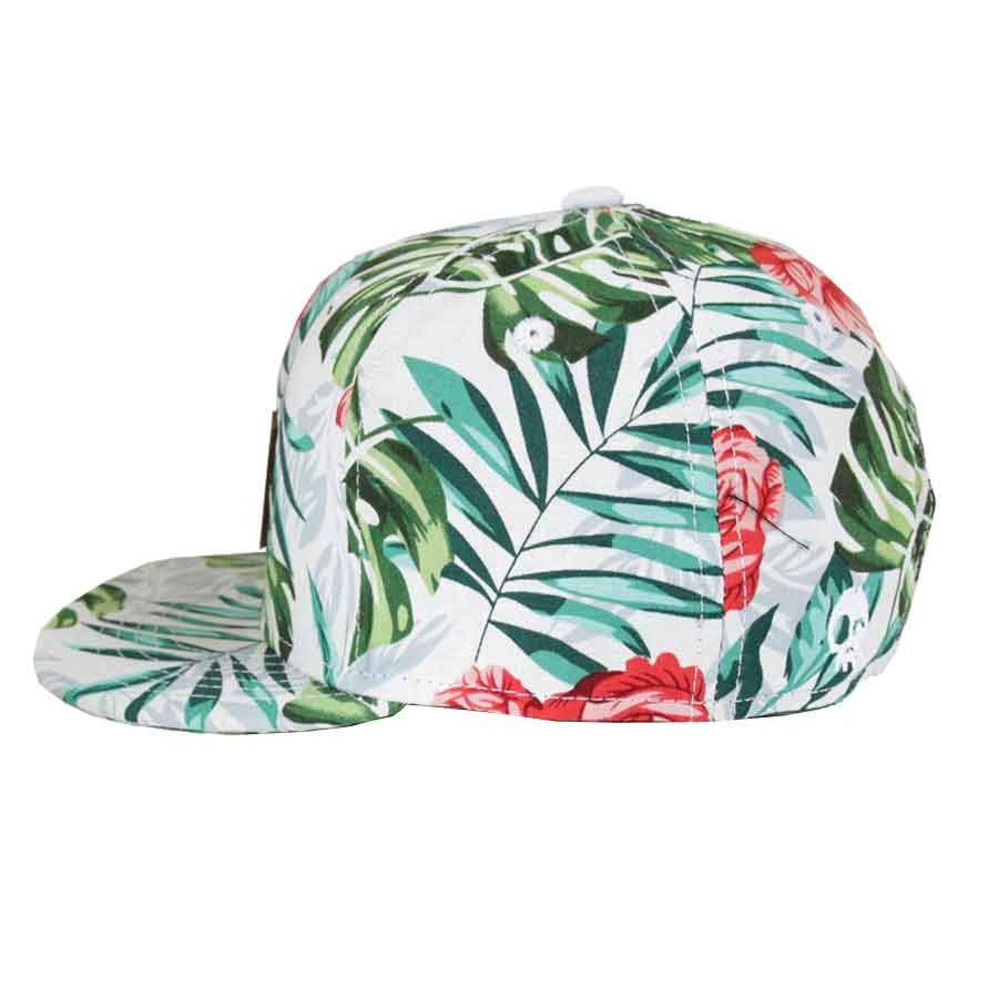 Headster Kids Aloha White in Snapback Style