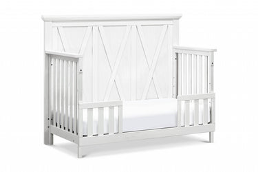 Million Dollar Baby Emory Farmhouse 4-in-1 Convertible Crib in Linen White