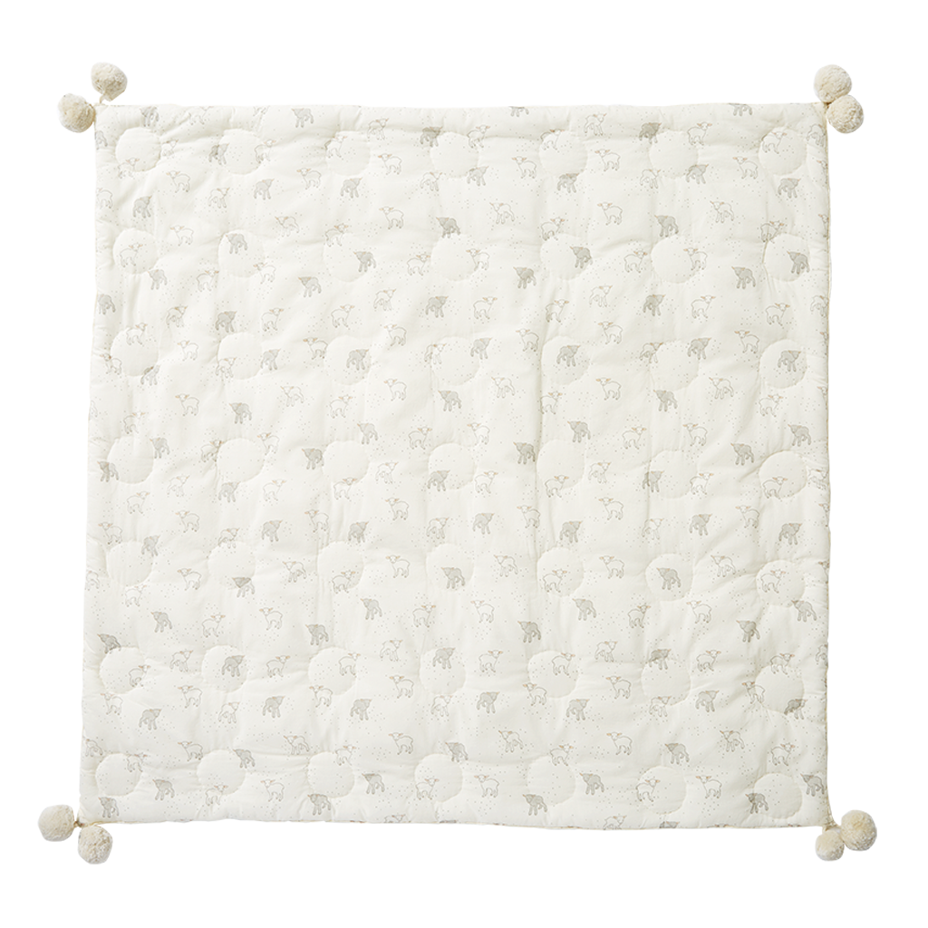 Pehr Lamb Hatched Quilted Blanket
