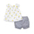 Little Me lemons sunsuit for baby