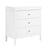 Da Vinci Poppy 3-Drawer Dresser in White