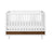 Babyletto Eero 4-in-1 Convertible Crib in White/Natural Walnut